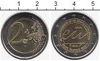 Монета Бельгия 2 евро Биметалл 2010 UNC- фото