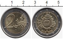 Изображение Монеты Бельгия 2 евро 2012 Биметалл UNC- 10  лет  наличному