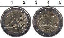 Изображение Монеты Ирландия 2 евро 2015 Биметалл UNC- 30 лет флагу Евросою