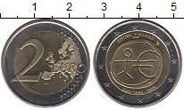 Изображение Монеты Финляндия 2 евро 2009 Биметалл UNC- 10 лет Экономическом