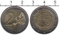 Изображение Монеты Словакия 2 евро 2009 Биметалл UNC- 10 лет единой европе