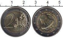 Изображение Монеты Словакия 2 евро 2009 Биметалл UNC- 20-ая годовщина 17 н