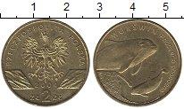 Изображение Монеты Польша 2 злотых 2004 Латунь UNC- Дельфин