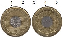 Изображение Монеты Польша 2 злотых 2000 Латунь UNC- Миллениум. Новое тыс