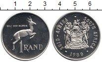 Изображение Монеты ЮАР 1 ранд 1980 Серебро Proof-