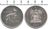 Изображение Монеты ЮАР 1 ранд 1987 Серебро UNC-