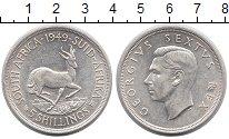 Монета ЮАР 5 шиллингов Серебро 1949 XF+