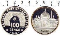 Монета Казахстан 100 тенге Серебро 2006 Proof- фото