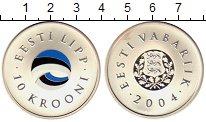 Изображение Монеты Эстония 10 крон 2004 Серебро UNC-