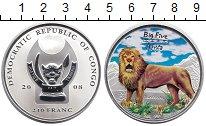 Изображение Монеты Конго 240 франков 2008 Серебро UNC ```Большая пятёрка``