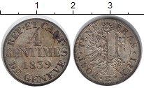 Изображение Монеты Женева 4 сантима 1839 Серебро XF
