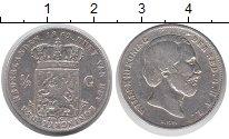 Изображение Монеты Нидерланды 1/2 гульдена 1862 Серебро XF-