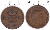 Изображение Монеты Неаполь 2 торнеси 1852 Медь XF