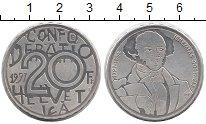 Изображение Монеты Швейцария 20 франков 1997 Серебро UNC- 200-летие со дня рож
