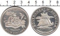 Изображение Монеты Ангилия 4 доллара 1967 Серебро Proof-