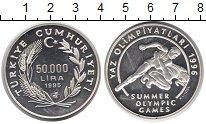 Изображение Монеты Турция 50000 лир 1995 Серебро UNC-