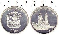 Изображение Монеты Швейцария 20 франков 2002 Серебро UNC
