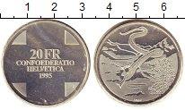 Изображение Монеты Швейцария 20 франков 1995 Серебро UNC Мифологическая  Бела