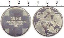 Изображение Монеты Швейцария 20 франков 1996 Серебро Proof-