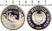 Изображение Монеты Кипр 1 фунт 1986 Серебро Proof-