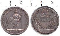 Изображение Монеты Вауд 1 франк 1845 Серебро XF+