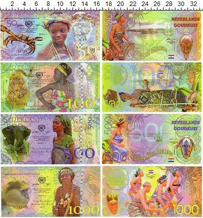 Изображение Банкноты Гана Гана набор из 4 бон 2016  UNC Фэнтази. Нидерландск