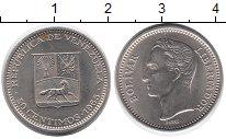 Изображение Мелочь Венесуэла 50 сентим 1965 Медно-никель XF