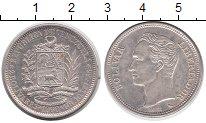 Изображение Монеты Венесуэла 2 боливара 1960 Серебро XF Симон Боливар.