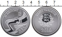 Изображение Монеты Эстония 10 крон 2010 Серебро Proof-