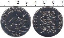 Изображение Монеты Эстония 100 крон 1992 Серебро UNC