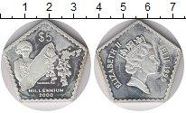 Изображение Монеты Фиджи 5 долларов 1999 Серебро Proof-