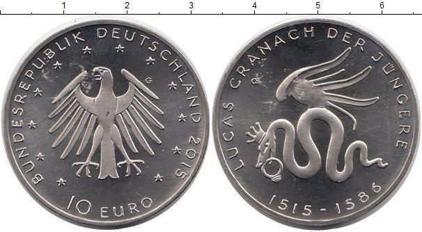 Картинка Монеты Германия 10 евро Медно-никель 2015