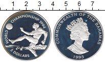 Изображение Монеты Багамские острова 5 долларов 1993 Серебро Proof- Елизавета II.  Чемпи