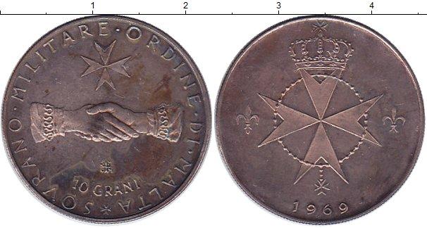 Картинка Монеты Мальтийский орден 10 грани Бронза 1969