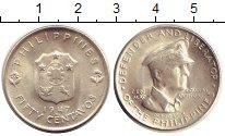 Изображение Монеты Филиппины 50 сентаво 1947 Серебро UNC- Генерал  Дуглас  Мак
