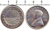 Изображение Монеты Мальта 2 фунта 1977 Серебро Proof-
