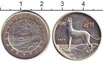Изображение Монеты Мальта 1 фунт 1977 Серебро Proof-