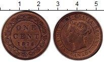 Изображение Монеты Канада 1 цент 1876 Медь XF+