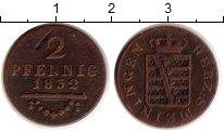 Изображение Монеты Саксен-Майнинген 2 пфеннига 1832 Медь XF-