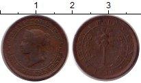 Изображение Монеты Шри-Ланка Цейлон 1/2 цента 1870 Медь VF