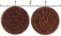 Изображение Монеты Нассау 1/4 крейцера 1819 Медь XF+ Вильгельм