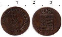 Изображение Монеты Саксен-Майнинген 1/4 крейцера 1829 Медь XF-