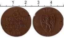 Изображение Монеты Германия Рейсс-Оберграйц 3 пфеннига 1805 Медь XF-