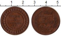 Изображение Монеты Тунис 5 сантим 1912 Бронза XF