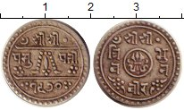 Изображение Монеты Непал 1/2 махура 1913 Серебро XF