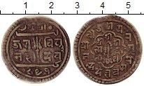 Монета Непал 1 мохар Серебро 1731 XF-