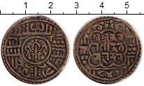 Монета Непал 1 мохар Серебро 1722 XF-