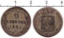 Изображение Монеты Германия Нассау 6 крейцеров 1822 Серебро VF