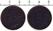 Изображение Монеты Остров Джерси 1/24 шиллинга 1877 Бронза XF- Виктория