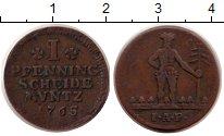 Изображение Монеты Брауншвайг-Вольфенбюттель 1 пфенниг 1765 Медь XF- Карл I